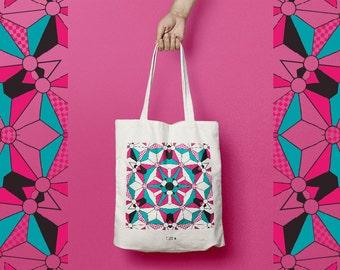 Bag in cotton or tote bag pattern kalei
