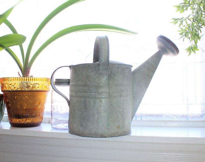 Vintage Metal Watering Can Rustic Farmhouse Decor Primitive