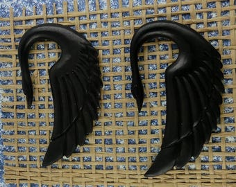 Winged Swans,  6mm Gauges, Recycled Wood , Free Shipping, Free Shipping