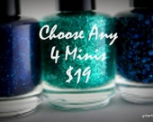 nail polish set Mini Glitter Nail Polish Favors 5 free nail polish handmade indie nail polish vegan cruelty free nail polish