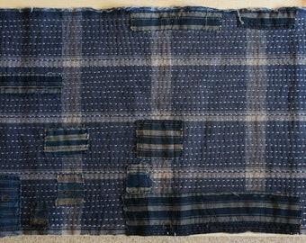 Boro-Inspired Sashiko Fabric #50-B | Authentic fabric hand-stitched to be Boro