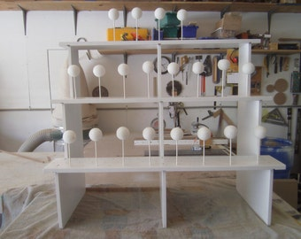 Large Bleacher Seat Style Cake Pop Stand. Can Hold 150 Cake Pops or Push Pops.
