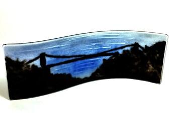 Fused Glass Picture Clifton Suspension Bridge