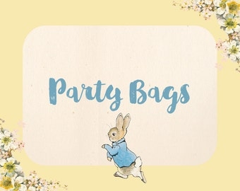 Personalised Beatrix Potter Peter Rabbit A5 Party Sign