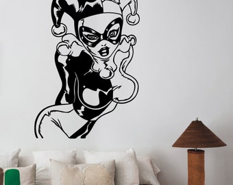 Sexy Harley Quinn Wall Sticker Vinyl Decal Girl Superhero Art Decorations for Home Housewares Bedroom Girls Room Marvel Decor hqn9