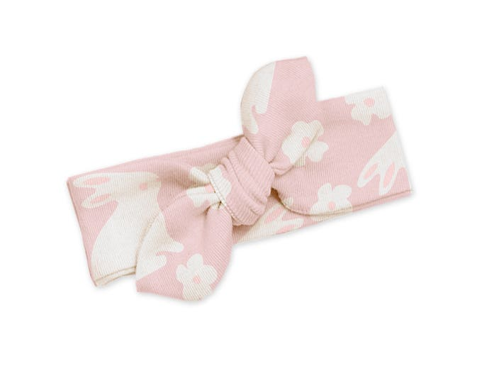 SPRING SALE! Pink Bunny Baby Girl Headband, Infant Baby Bow Headband, Toddler Headbands, Pink Bunnies, Pink Bunny Baby Bow Tesa Babe