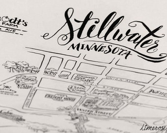 Custom Map - Hand drawn Illustration - For Weddings and Special Events
