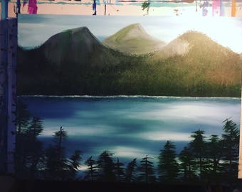 British Columbia mountain scene