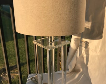 Vintage lucite table lamp