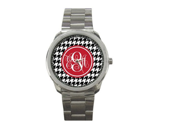 Monogrammed Stainless Watch- Mix and Match Patterns and Colors