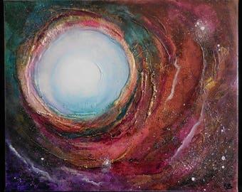 """Original Art, """"Nova"""", Mixed Media Art, Dimensional Art, Cosmos"""