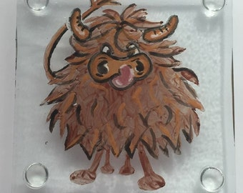 Angry Coo Coasters - Pack of Four