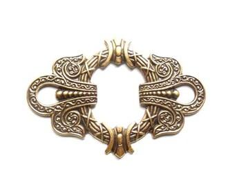 1 Antique Bronze Or Antique Silver Art Nouveau Motif Stamping - 22-17-3