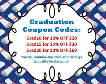 Graduation Coupon Codes