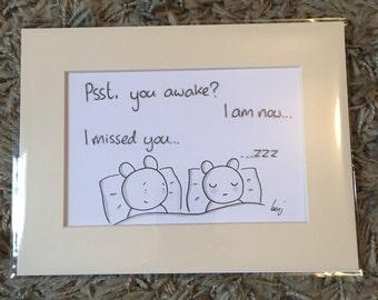 Bedtime (hand drawn illustration)