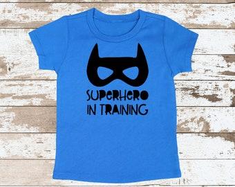 Super Hero in Training | Super Hero in Training Blue T Shirt | Boys Blue T Shirt | Cute Boy Hero Shirt