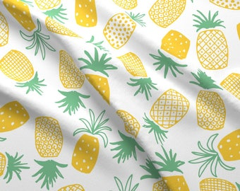 Pineapple Fabric - Pineapple Print (Large) By Shelbyallison - Pineapple Cotton Fabric By The Yard With Spoonflower