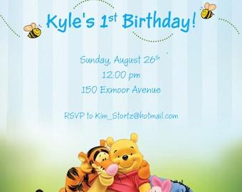 Winnie the Pooh Birthday Invite