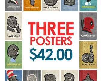Buy Any 3 posters