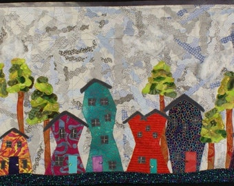Handmade Art Quilt - TICKY TACKY