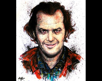 "Print 11x14"" - Jack Torrance - The Shining Jack Nicholson Redrum Murder Horror Dark Art Halloween Stanley Kubrick Serial Killer Pop Art"
