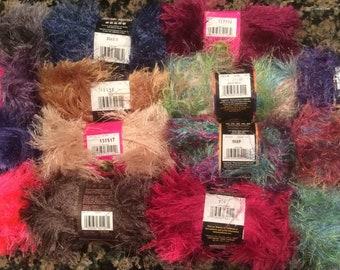 Lion Brand Fun Fur Yarn - Asst. Colors