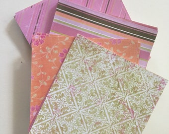 Scrapbooking paper lot of 80 sheets 6x6 size with 20 different designs. Designer paper for scrapbooking projects and homemade stationary