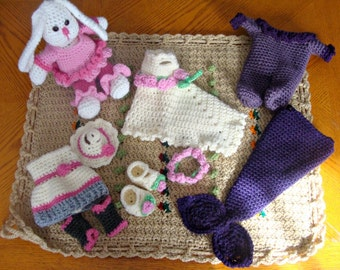 Betty the Bunny Play Set 767 pdf digital crochet pattern