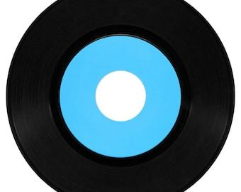 "Custom Vinyl 7"" Classic ""Big Hole"" Black or Clear"