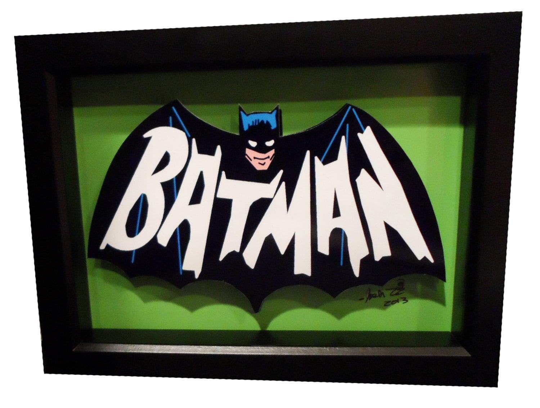 Batman 1966 tv show logo bat symbol 3d pop art comic artwork zoom buycottarizona