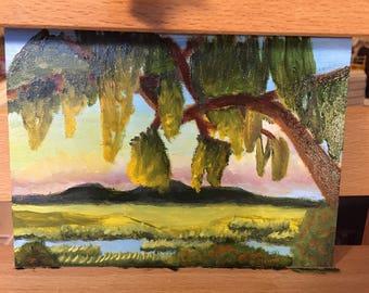 Charleston marsh oil painting