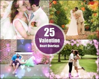 Valentine's Day Photoshop Heart Overlay Bokeh Texture