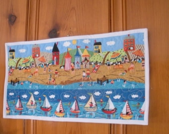 Adorable Beach Scene Wall Hanging with Quilted Accents