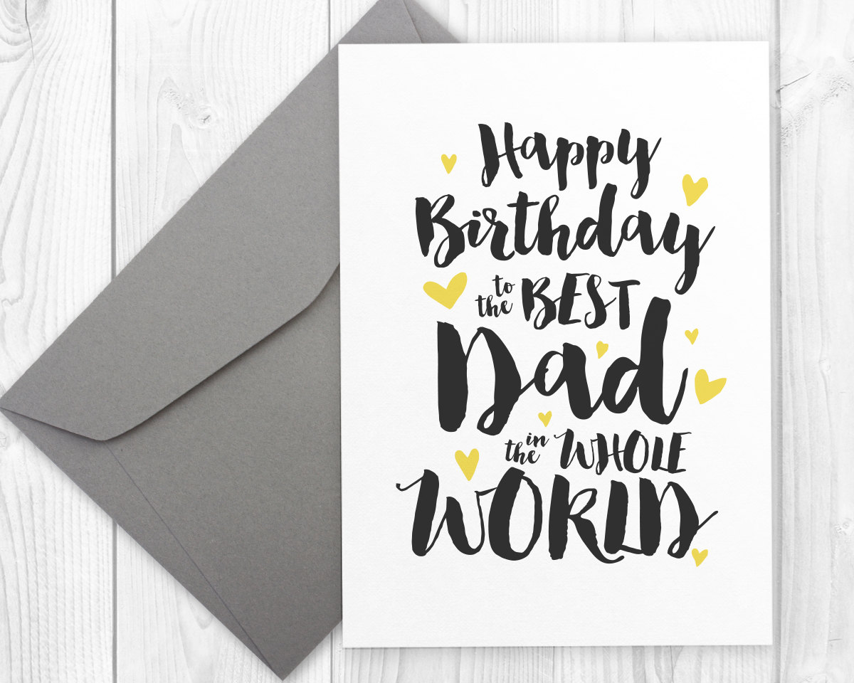 Handy image throughout printable birthday card for dad