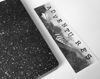 Bookmark - PRINTED EDITION - Paper planes, art bookmark, bullet journal, stationary, bullet journal bookmark, bullet journal art, nadyart