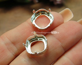 Silver or Gold Plated Settings, 2pcs for Swarovski 14mm article 4470, Empty Settings Nickel Free, Gemstone Setting, Sew On Setting, Finding