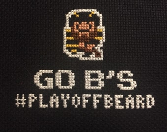 Go B's (Bruins) 16-Bit Cross-Stitch