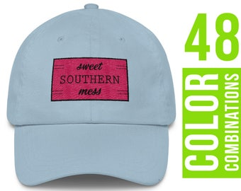 Sweet Southern Mess Hat Sweet Southern Mess Baseball Cap Sweet Southern Mess Trucker Hat Sweet Southern Mess Embroidery Design
