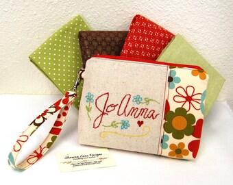 Personalized Clutch, small purse, YOU CHOOSE FABRIC, wedding clutch, custom made evening bag, Bridesmaid gift, wedding wristlet