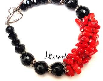 Bracelet, bracelet, coral bracelet, bracelet, bracelet, T-Strap, coral paste