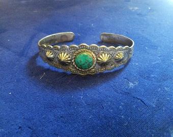 Sanford Sandrest Open Turquoie Bracelet