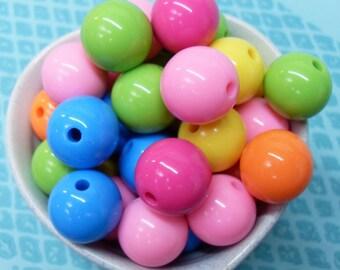 10x 18mm Resin Multi color Globe beads .. Candy Fun