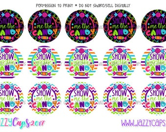 "Show Me The Candy 1"" Images--digital download"