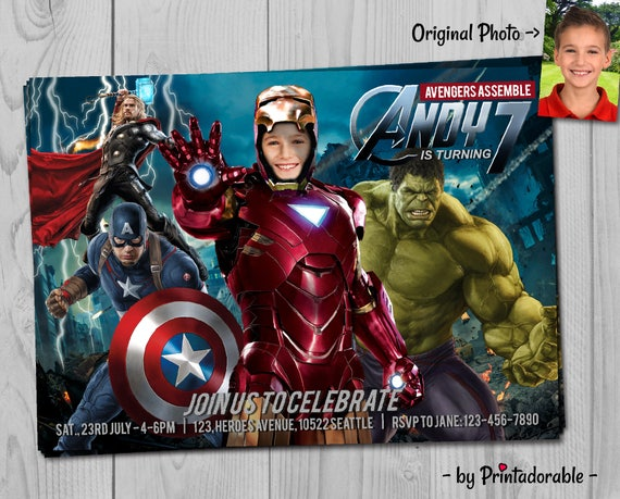 Iron Man Invitation - Avengers Invite - Iron Man Invite - Infinity Wars - Avengers Invitation - Iron Man - Iron Man Printables