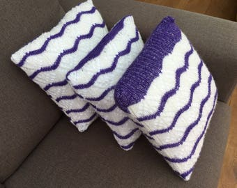 Knitted cushions set of 3