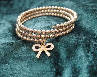 Hematite bracelet, gold, bracelet, diaper bracelet, memory wire bracelet, gemstone, memory wire bracelet, gemstone bracelet, gypsy, Boho, wedding