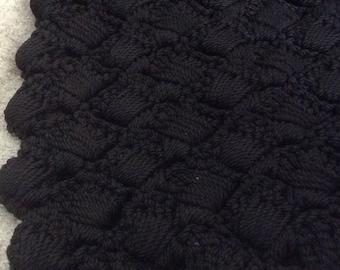 Vintage Crocheted Black Purse Base