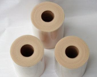 Three Tan tulle rolls - 6 inches - 100 yards each - 3 Tan tulle rolls - Pocahontas tutu - Beige Tulle Rolls