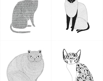 Catnip Large Cat Panel in White, Gingiber, 100% Cotton, Moda Fabrics, 48230 11