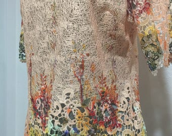 Hand dyed OOAK, fairy kei blouse
